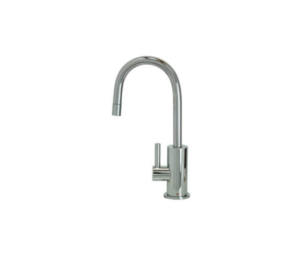 Hot Water Faucet with Contemporary Round Body & Handle