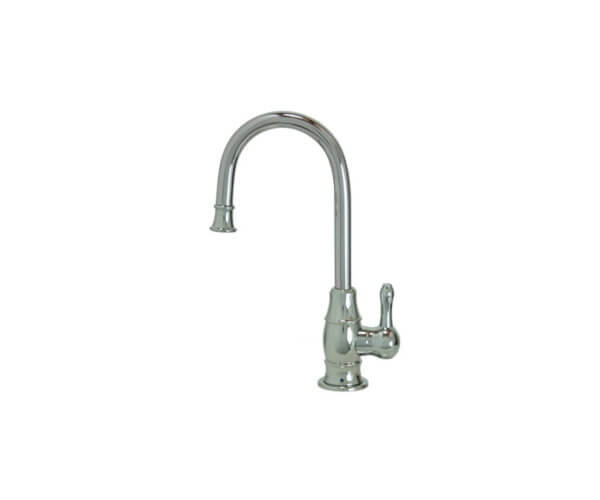 Point-of-Use Drinking Faucet with Traditional Curved Body & Curved Handle
