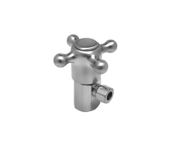 Brass Cross Handle with 1/4 Turn Ceramic Disc Cartridge Valve - Lead Free - Angle