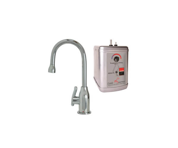 Hot Water Faucet with Modern Curved Body & Handle & Little Gourmet¨ Premium Hot Water Tank